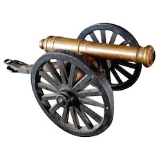 Toy Civil War Era Brass Canon