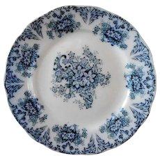 """Flow Blue Antique W Adams Venetian Scenery 8 3//4/"""" Bowl"""
