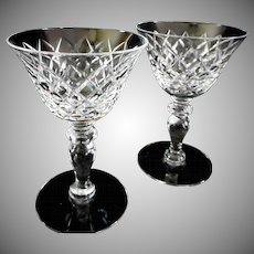 Beautiful Hawkes Crystal Stemware, set of 2