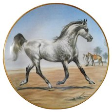 Beautiful Arabian Stallion Decorative Plate