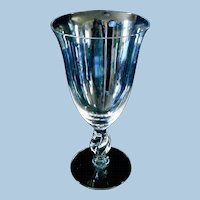 Imperial Glass 7 Inch Water Goblets,  3 pcs in the Twist Pattern