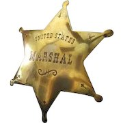 Toy U.S. Marshal Badge .... High Quality