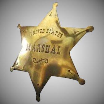 Toy U.S. Marshal Badge .... High Quality