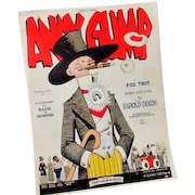 Andy Gump Sheet Music suitable for Framing