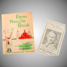 Two Very Unusual Vintage Farm Needle Books