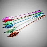 Set of Six, Aluminum Iced Tea Spoons or Stirers