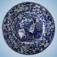Flow Blue Wedgwood Month Series Plate  ** May **