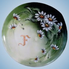 Hand Painted Monogrammed Haviland Cabinet Dish