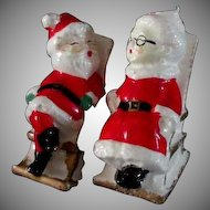 Christmas Santa Salt & Pepper Shakers....Older Set
