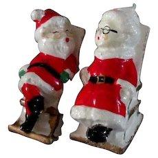 Christmas Santa Salt & Pepper Shakers....Older Set