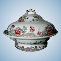 Spode Red Roses Covered Vegetable Serving Dish