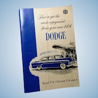 Original 1954 Dodge Owner's Manual