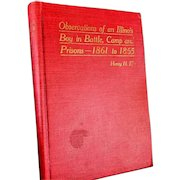 """Civil War Book """"Observations of an Illinois Boy in Battle, Camp & Prisons"""" by Henry Eby"""