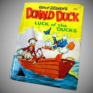 "Walt Disney's Donald Duck, Big Little Book, ""Luck of the Ducks""  Full Color !"