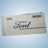 Original 1966 Ford Owner's Manual