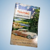 Original 1956 Pontiac Owner's Guide or Manual