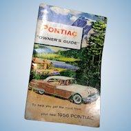 Original 1956 Pontiac Owner's Guide or Manual