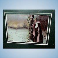 "Original 1898 Ullman ""Evangeline""  Portrait  Tribute to Longfellow's Poem"