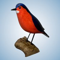Carved Wooden Bluebird by Jim Slack