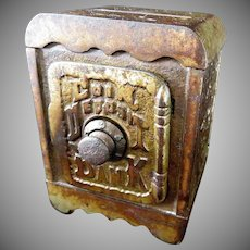 "Grey Iron Casting Company  ""Coin Deposit""  Combination Safe Still Bank"