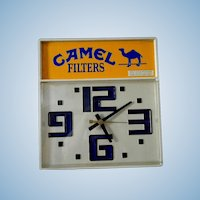 Vintage Bar Clock ** Advertising Camel Cigarette Clock