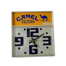 Vintage Bar Clock ** Advertising Camel Cigarette Clock