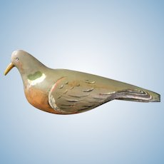 Authentic Wood Hand Carved Pigeon Decoy