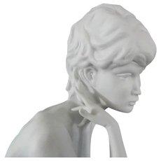 Kaiser Porzellan Bisque Statue of Nude Girl** Meditation**