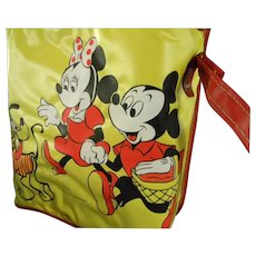 Disney Insulated Mickey Mouse Picnic Bag & Set of Mickey Mouse Ears ** both UNUSED**