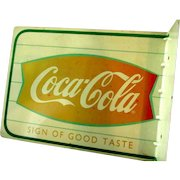 Weather Worn Outside Coca-Cola Tin Sign Two Sided