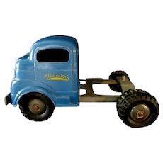 Structo Model 702  Steel Cargo Tractor and Trailer