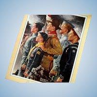 1951 Boy Scout Calendar Norman Rockwell Scene