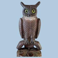 Swisher Soules Decatur Illinois Owl Decoy