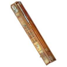 Royal Monarch Split Bamboo Fly Rod & Flys