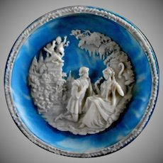 Incolay Stone Love Sonnet Decorative Dish