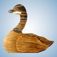 Canada Goose Sign or Decoy Hand Made Folk Art