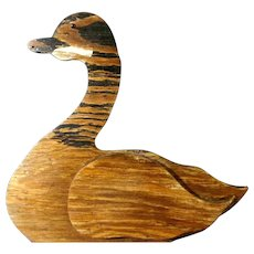 Canada Goose Sign or Decoy Hand Made Folk Art