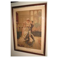 "Victorian Print Titled ""What Next"" by Anyot"