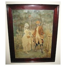 18th Century Exquisite Framed French Tapestry