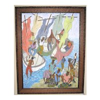 Caribbean Oil Painting by Reynald Joseph