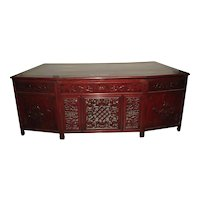 Chinese Rosewood Fan Shaped Desk