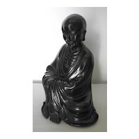 Chinese Wood Seated Lohan Figure