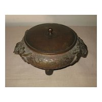 Antique Chinese Bronze tripod Incense Burner