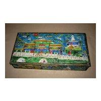 Old Chinese Enamel Rectangular Box