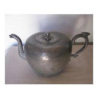Antique Chinese Pewter Tea Pot