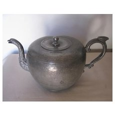 Antique Chinese Pewter Tea Pot
