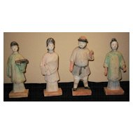 Chinese Yuan Dynasty Pottery Figures
