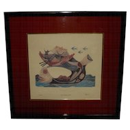 Framed Print of Jonah and the Whale by Elgi, A
