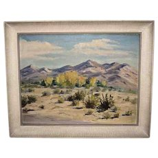 "Framed Oil painting of a ""Desert Scene"" by H. Foster (1883-1953"