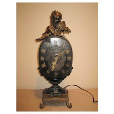 Chinese Bronze Electrical Clock